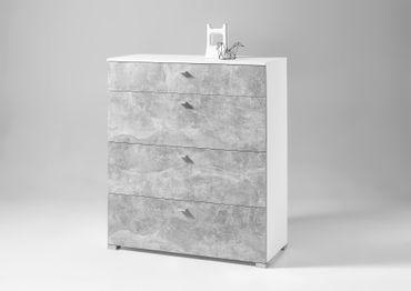 * SONDERPREIS * BALCONY Sideboard Kommode Anrichte Wohnzimmer E Weiß / Beton – Bild 2