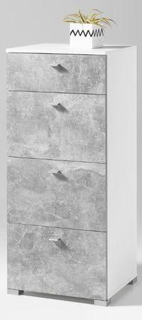 * SONDERPREIS * BALCONY Sideboard Kommode Anrichte Wohnzimmer D Weiß / Beton – Bild 1