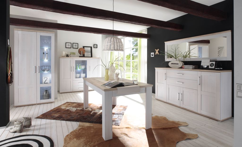Romance spiegel wandspiegel wohnzimmer speisezimmer wei for Wandspiegel wohnzimmer