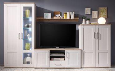 ROMANCE Wohnzimmer Set Komplettset Wohnwand Anbwauwand Wohnkombination Weiß  U2013 Bild 3