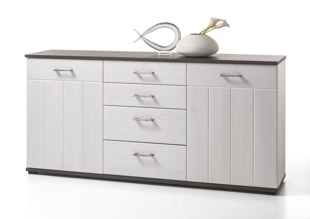 toronto sideboard kommode anrichte wohnzimmer wohnzimmerschrank wei sch ner wohnen sideboards. Black Bedroom Furniture Sets. Home Design Ideas