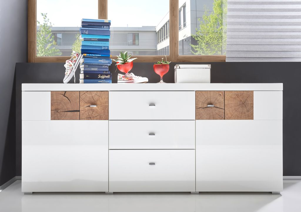 forest sideboard anrichte kommode wohnzimmerschrank wohnzimmer wei hochglanz sch ner wohnen. Black Bedroom Furniture Sets. Home Design Ideas