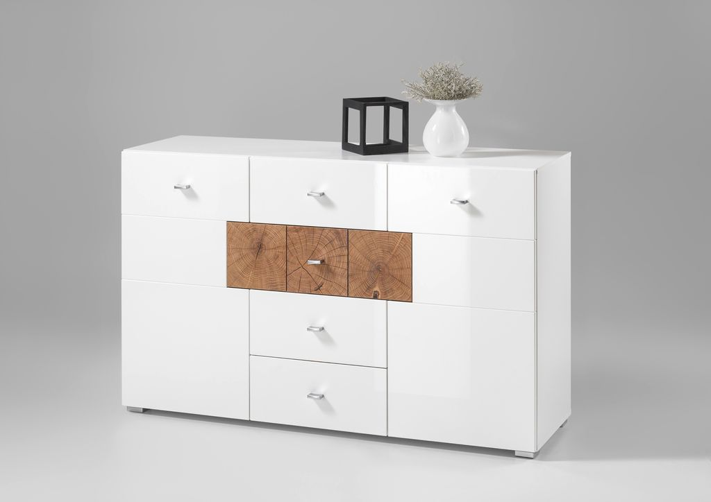 forest sideboard kommode anrichte wohnzimmer d wei hochglanz sch ner wohnen sideboards. Black Bedroom Furniture Sets. Home Design Ideas