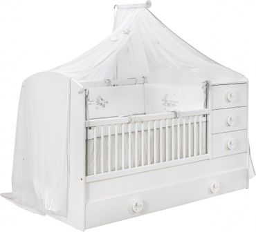 Cilek BABY COTTON Babybett Bett Kinderbett Kinderzimmer Weiß – Bild 1