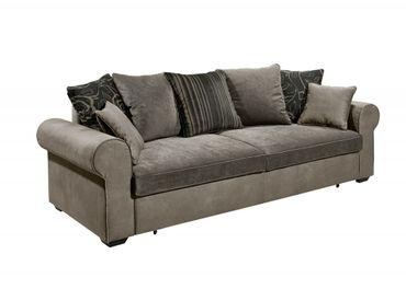 *AUSSTELLUNGSSTÜCK* CANYON 3er Sofa Couch 3-Sitzer Schlafsofa Braun/Grau – Bild 5