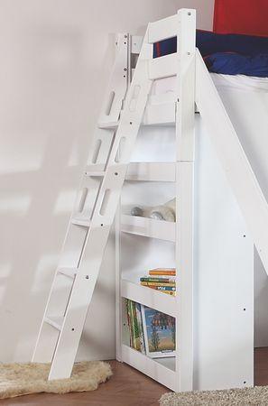 Etagenbett SKY Kinderbett mit Rutsche Spielbett Bett Natur Stoffset Lila/Rosa – Bild 3