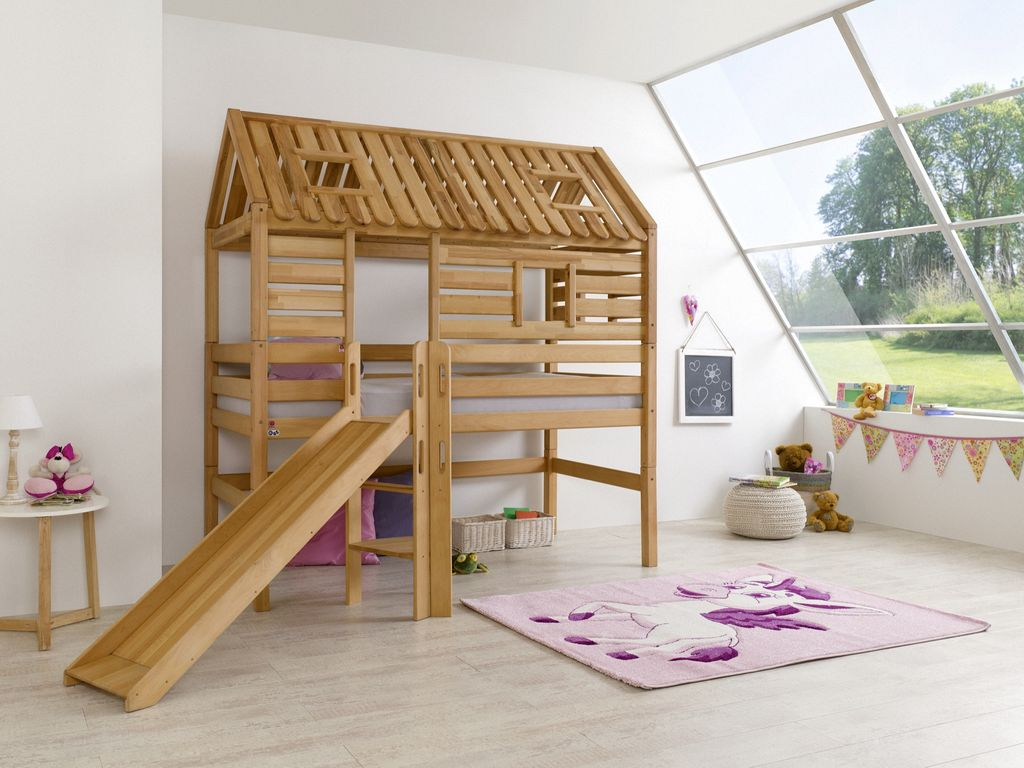 hochbett tom s h tte 1 kinderbett mit rutsche spielbett. Black Bedroom Furniture Sets. Home Design Ideas