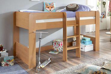 Hochbett ANDI 1 Kinderbett Spielbett halbhohes Bett Buche – Bild 1