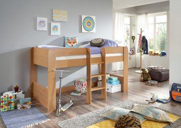 Hochbett ANDI 1 Kinderbett Spielbett halbhohes Bett Buche – Bild 2