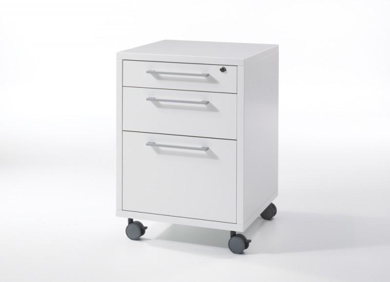 Prima Rollcontainer mit Hängeregister Weiß