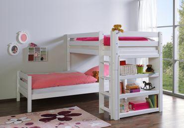 Etagenbett BENI L Kinderbett Spielbett Hochbett Bett Weiß – Bild 2