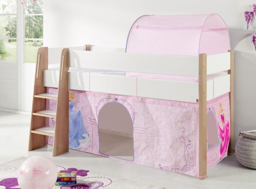 hochbett sam 2 kinderbett spielbett halbhohes bett buche. Black Bedroom Furniture Sets. Home Design Ideas