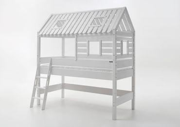 Hochbett Tom´s Hütte 2 Kinderbett Spielbett Bett Weiß