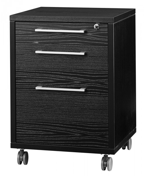 prima rollcontainer mit mit h ngeregister esche schwarz b ro container mit h ngeregister. Black Bedroom Furniture Sets. Home Design Ideas