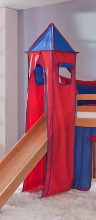 Turm für Etagenbett und Hochbett Blau/Rot