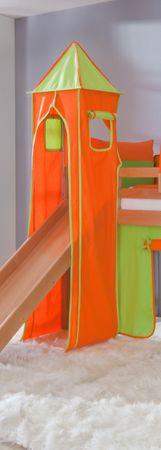 Turm für Etagenbett und Hochbett Grün/Orange