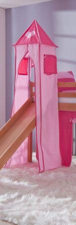Turm für Etagenbett und Hochbett Pink/Rosa