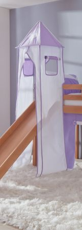 Turm für Etagenbett und Hochbett Lila/Weiß/Herz