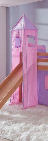 Turm für Etagenbett und Hochbett Lila/Rosa/Herz