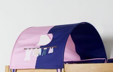 1-er Tunnel Spieltunnel für weiße Hochbetten Rosa/Violett