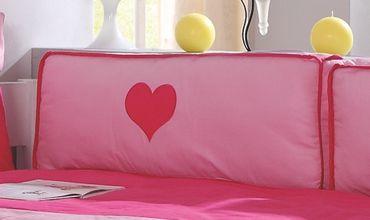 Seitenkissen Kissen Kinderkissen für Spielbett Hochbett Etagenbett Pink/Rosa