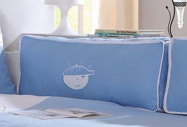 Seitenkissen Kissen Kinderkissen für Spielbett Hochbett Etagenbett Blau/Boy