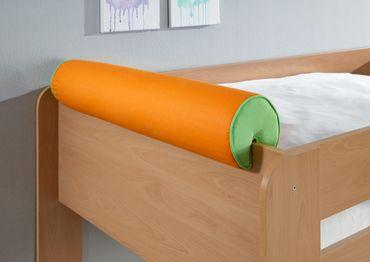 Nackenkissen Nackenrolle für Spielbett Hochbett Etagenbett Grün/Orange