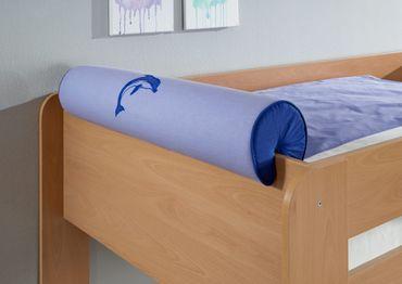 Nackenkissen Nackenrolle für Spielbett Hochbett Etagenbett Blau/Delfin