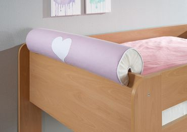 Nackenkissen Nackenrolle für Spielbett Hochbett Etagenbett Lila/Weiß