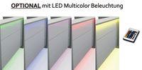 Manhattan Empfangstheke mit LED-Beleuchtung 220 cm Theke Empfang Arzttheke Weiß