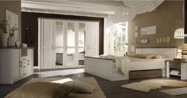 Luca 1 Schlafzimmer Komplettset Bett Kleiderschrank Set Pinie Weiß /  Trüffel U2013 Bild 1