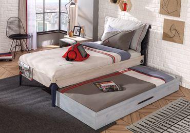 Cilek TRIO Kinderbett Bett 100x200cm Jugendbett Holz White-Wash – Bild 5