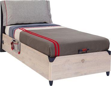 Cilek TRIO Kinderbett mit Bettkasten 100x200cm Jugendbett Holz White-Wash – Bild 2