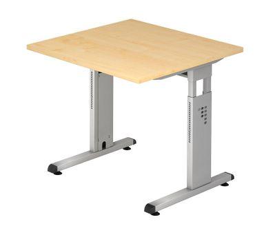 O-Serie Höhenverstellbarer Schreibtisch 80 x 80 cm, verschiedene Farben – Bild 5