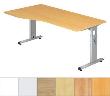 O-Serie Höhenverstellbarer Freiformtisch 180 x 100 cm, verschiedene Farben – Bild 1