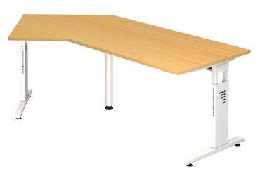 O-Serie 135° Höhenverstellbarer Kompakt-Schreibtisch 210 x 113 cm, verschiedene Farben – Bild 3