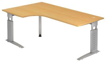 U-Serie 90° Höhenverstellbarer Kompakt-Schreibtisch 200 x 120 cm, verschiedene Farben – Bild 9