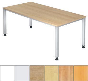Q-Serie Höhenverstellbarer Schreibtisch 200 x 100 cm, verschiedene Farben – Bild 1