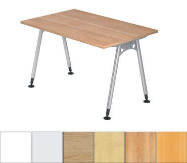 A-Serie Höhenverstellbarer Schreibtisch 120 x 80 cm, verschiedene Farben – Bild 1