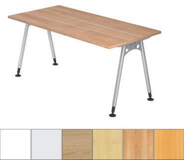 A-Serie Höhenverstellbarer Schreibtisch 160 x 80 cm, verschiedene Farben – Bild 1