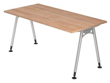A-Serie Höhenverstellbarer Schreibtisch 160 x 80 cm, verschiedene Farben – Bild 2