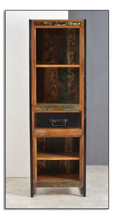 Bücherregal BALI 17376 bunt mit antikschwarz