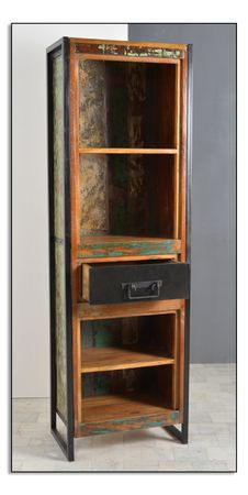 Bücherregal BALI 17376 bunt mit antikschwarz – Bild 1