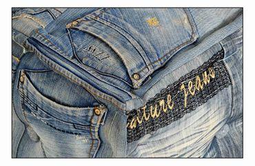 Sitzhocker DENIM 17496 jeansblau – Bild 2