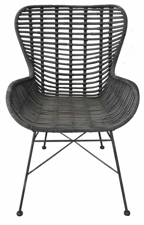 stuhl gartenstuhl rattanstuhl rattan 17669 schwarz ebay. Black Bedroom Furniture Sets. Home Design Ideas