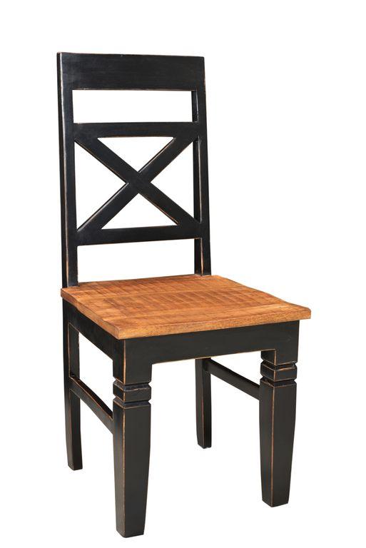 stuhl corsica 17730 schwarz mit honigfarbiger sitzfl che. Black Bedroom Furniture Sets. Home Design Ideas
