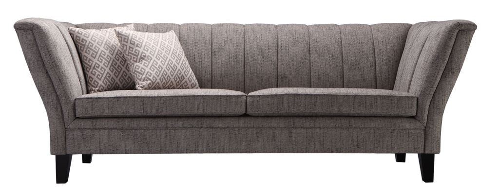 sofa sit4sofa 17763 bezug grau beine dunkelbraun polsterm bel 3 sitzer. Black Bedroom Furniture Sets. Home Design Ideas