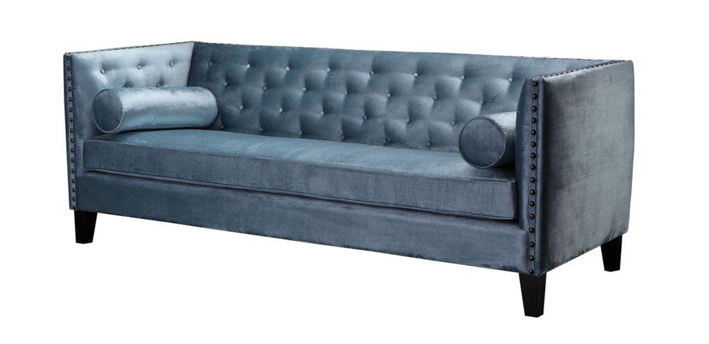 sofa sit4sofa 17765 bezug grau blau beine dunkelbraun. Black Bedroom Furniture Sets. Home Design Ideas