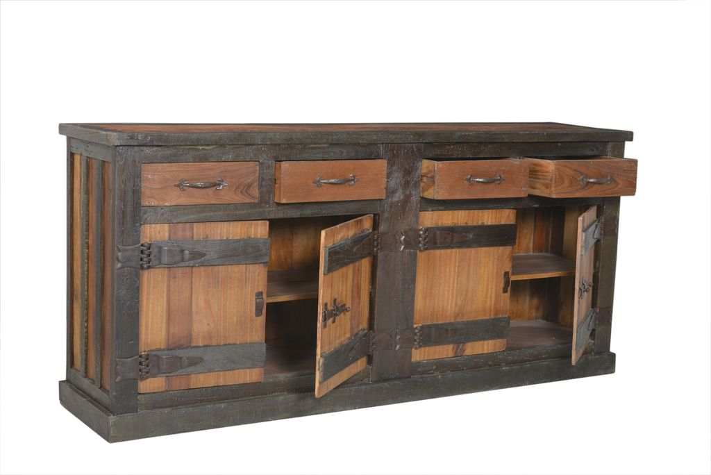 sideboard fortezza 17896 natur mit dunkel gebeizt. Black Bedroom Furniture Sets. Home Design Ideas
