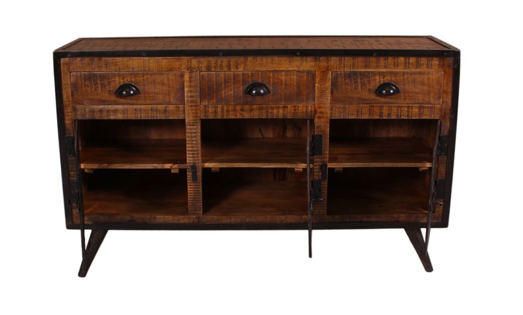 sideboard iron 17910 burnt oak color mit antikschwarz sch ner wohnen sideboards highboards. Black Bedroom Furniture Sets. Home Design Ideas